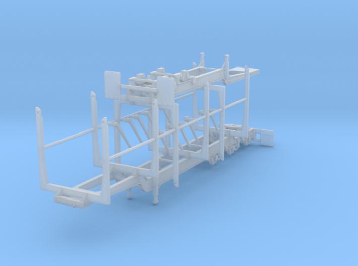 1/64th Super B Log trailer w folding bunks 3d printed