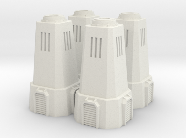 6mm Turret Towers (4) 3d printed