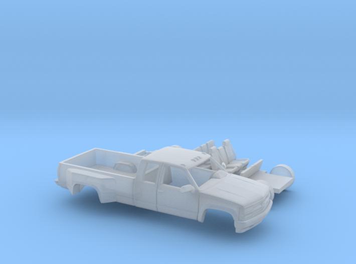 1/160 1990-98 Chevy Silverado CrewCab Dually Kit 3d printed