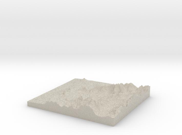 Model of Cabo Balea 3d printed