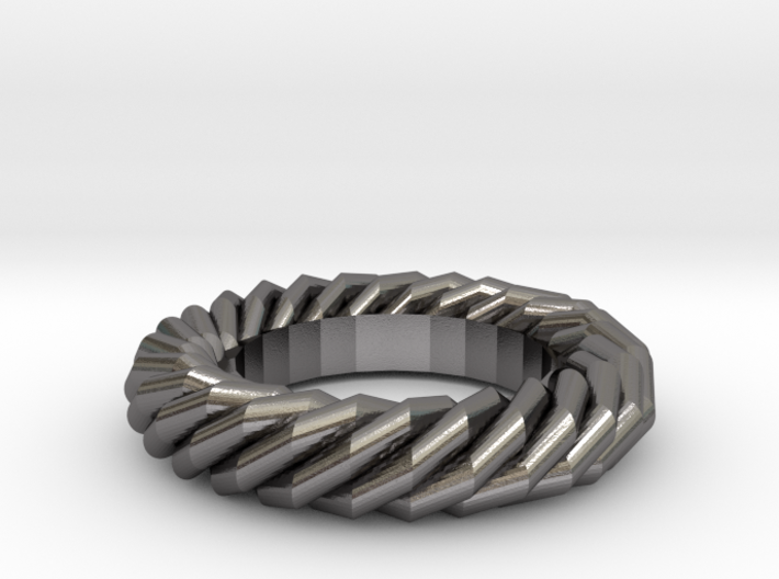 Twist ring gold 3d printed