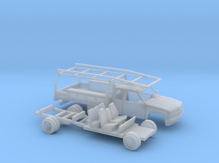 1/160 1990-98 Chevy Silverado ExtCab Contractor Ki 3d printed