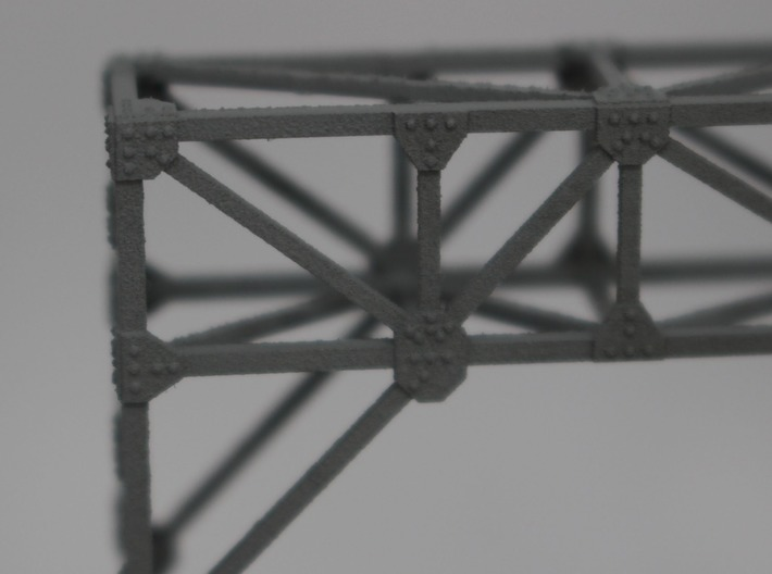 N Scale Signal Gantry 2 tracks 2pc 3d printed Detail of the rivets