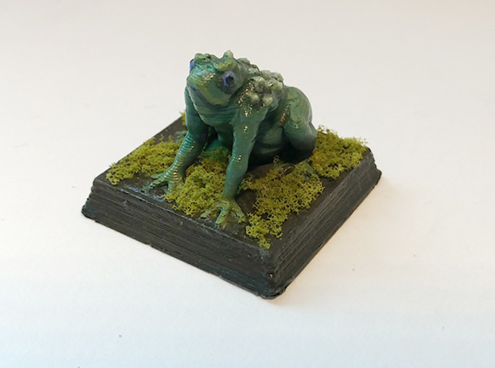 Giant Frog Monster 3d printed Low Quality Print