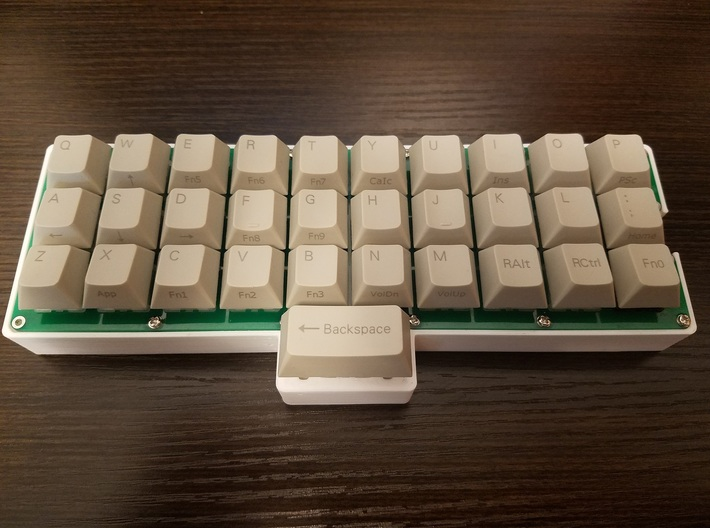 Gherkin (Ortholinear Keyboard) Spacebar Case 3d printed