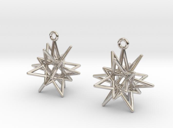 Starry Knight Earrings 3d printed
