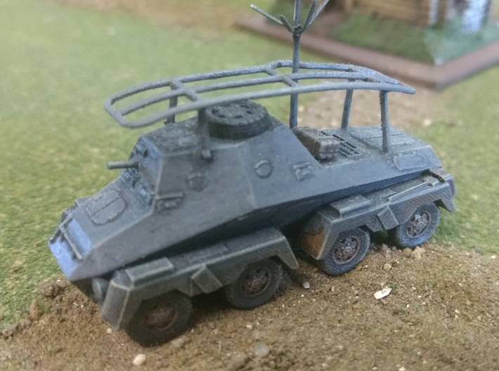 SdKfz 263, 15mm and TT scales 3d printed Completed FUD model, including WSF aerial by David Chappell
