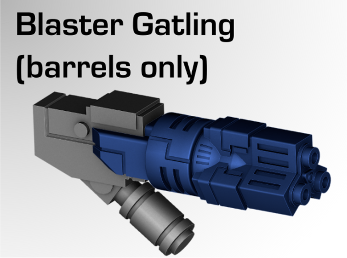 Blaster Gatling Barrels 3d printed Overview