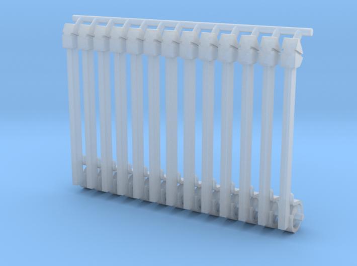 (12) GREEN STEEL FLASHER BARS 3d printed