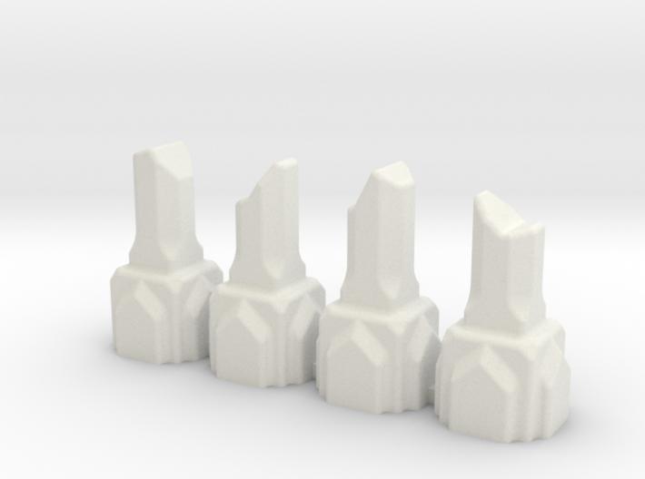 Mine or Moria Column Ruin (x4) 6mm Scale 3d printed