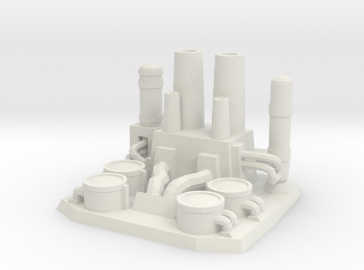 The gas refinery plant 3d printed
