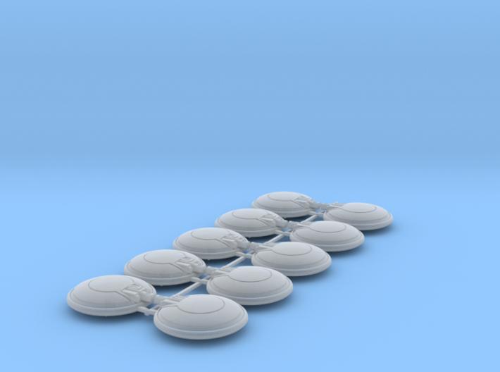10x Blank - Naxos Combat Shields 3d printed