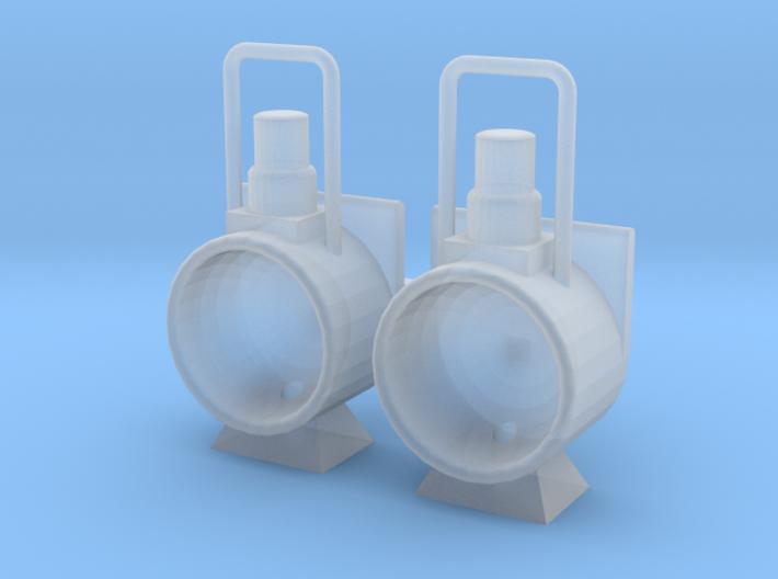 Stoomloc Frontseinlamp set van 2 Spoor 0 3d printed