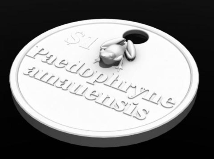 Paedophryne amauensis; world's tiniest frog - pend 3d printed frog render1