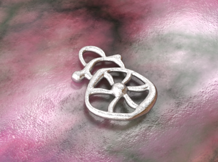Electric wind  3d printed raw silver material
