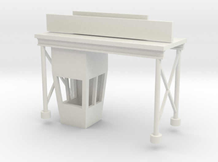 'HO Scale' - Drive-In Movie Ticket Booth 3d printed