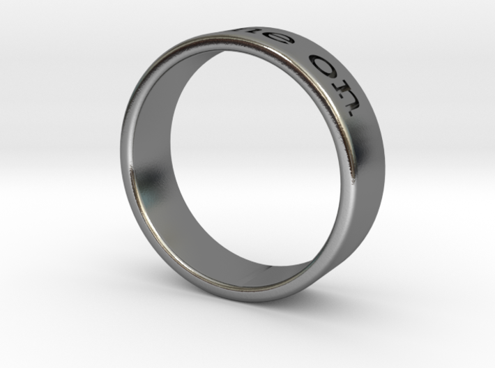 """Shine On"" engraved ring 3d printed"