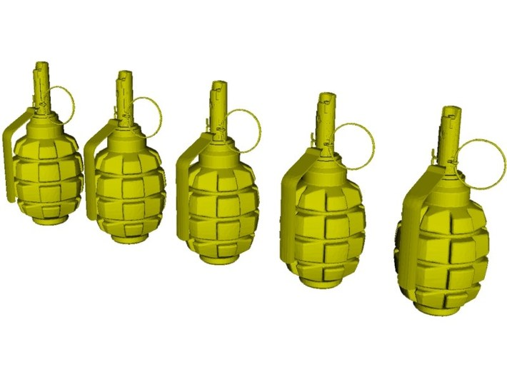 1/10 scale F-1 Soviet hand grenades x 5 3d printed