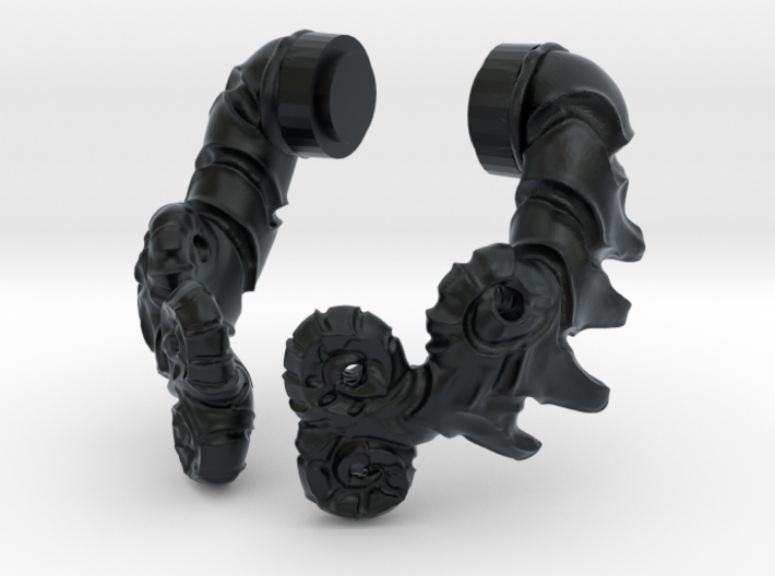 Curled Horns 3d printed