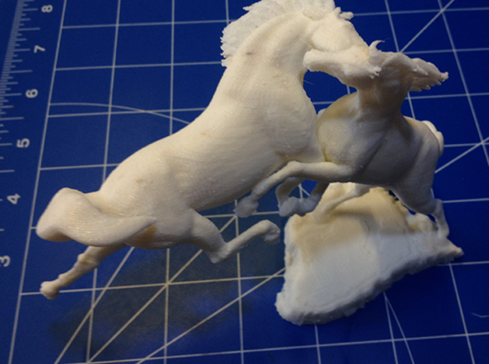 The Fight 3d printed