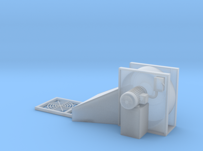 1/64 Centrifugal Fan Seperate Grill 3d printed