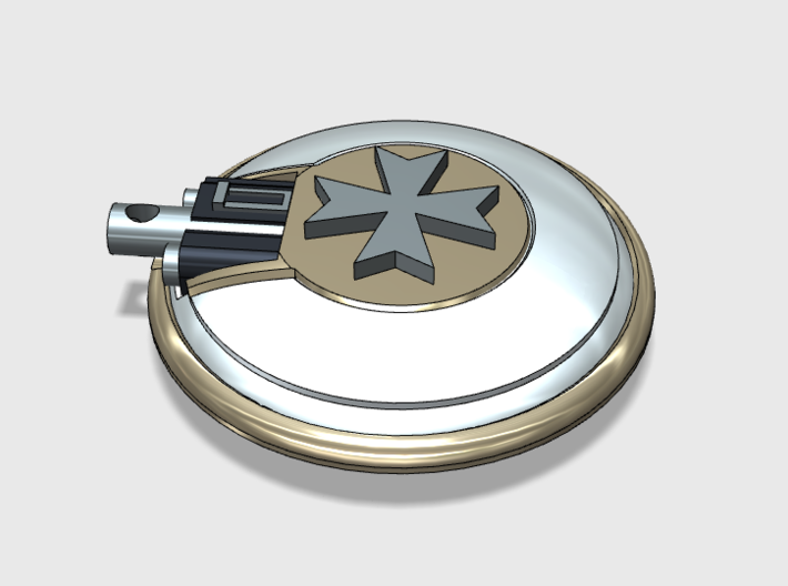 10x Vehicle Insignia-Ready - Naxos Combat Shields  3d printed This flat area will accommodate my vehicle Insignias