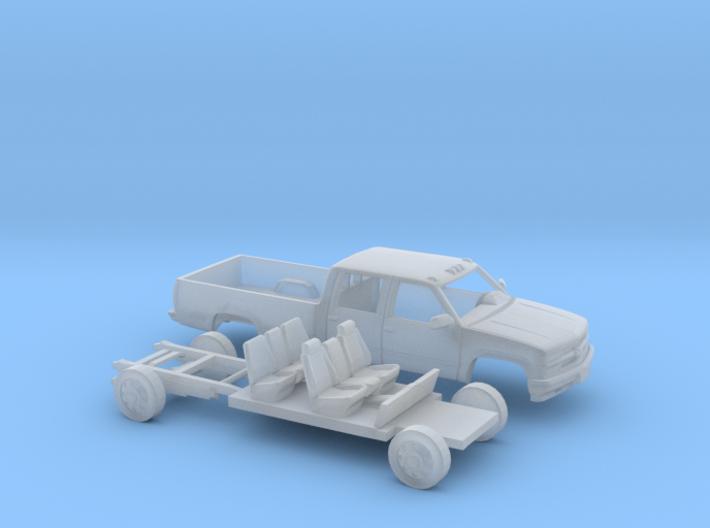 1/87 1994 Chevy Silverado CrewCab LongBed Kit 3d printed