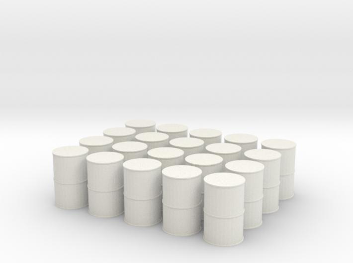 N Scale Oil Drums 3d printed