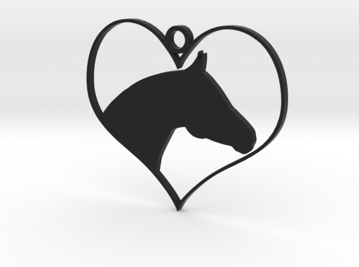 Horse Heart 3d printed