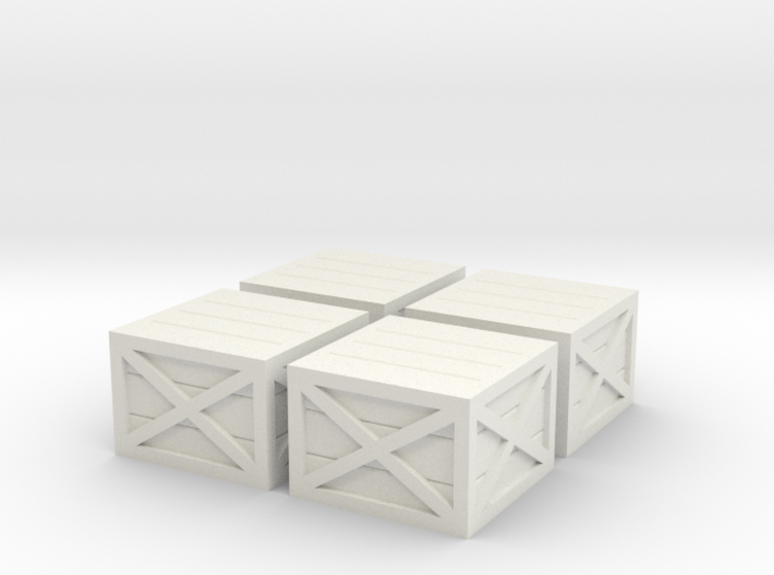 HO Scale Wooden Crates (V2) 3d printed