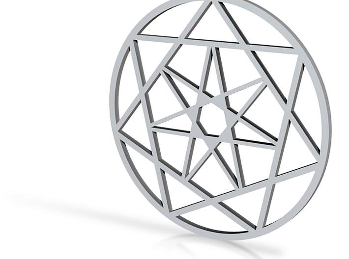 pendentif heptagramme 3d printed