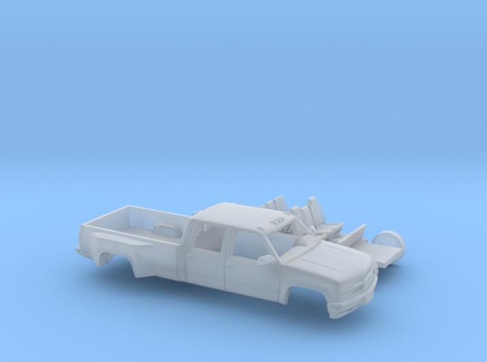 1/87 1990-98 Chevy Silverado CrewCab Dually Kit 3d printed