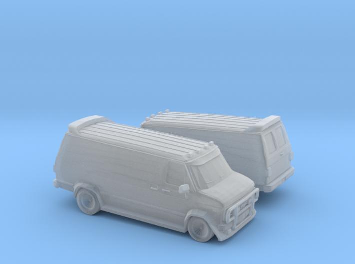 1/200 2X GMC Vandura Van 3d printed