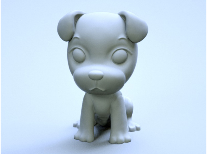 puppy 01 3d printed it's a rendered one