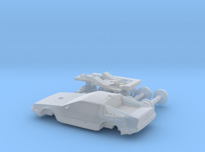 DeLorean Time Machine Train/Car 1:200 3d printed