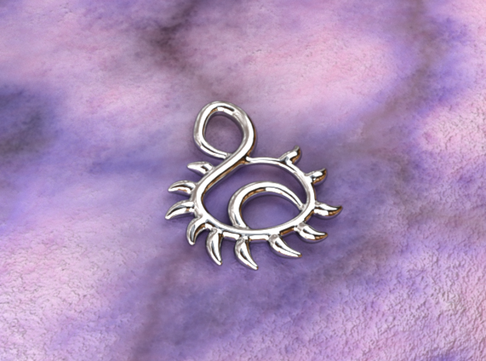 Sunset 3d printed silver material