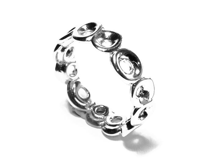Seeside Ring (From $9.9) 3d printed silber schmuck