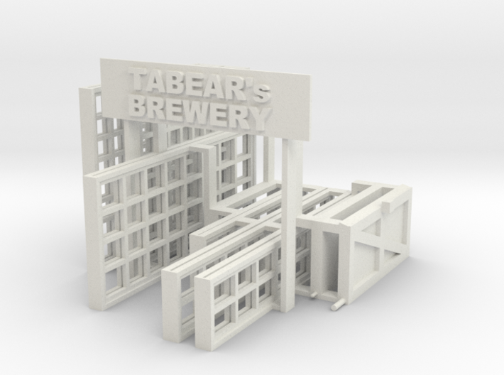 Brewery Windows 3d printed