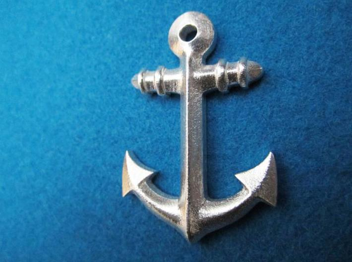 Anchor Classic 3d printed front picture: printed in silver