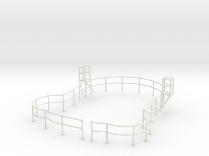 "1/48 USN Fletcher Roof Railing ""Round Bridge"" v2 3d printed"