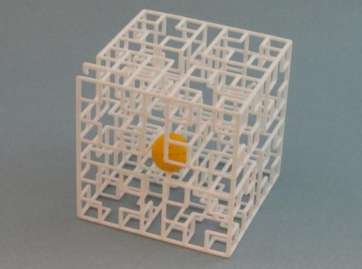 Minotaur's Castle 3d printed with ball inside maze