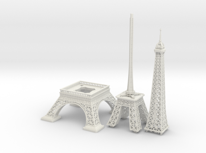 Eiffel Tower (1:2000) 3d printed