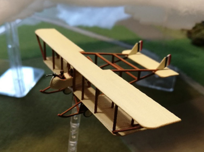 "Maurice Farman MF.11 ""Shorthorn"" 3d printed Paint job and photo courtesy mikeemagnus @ wingsofwar.org"