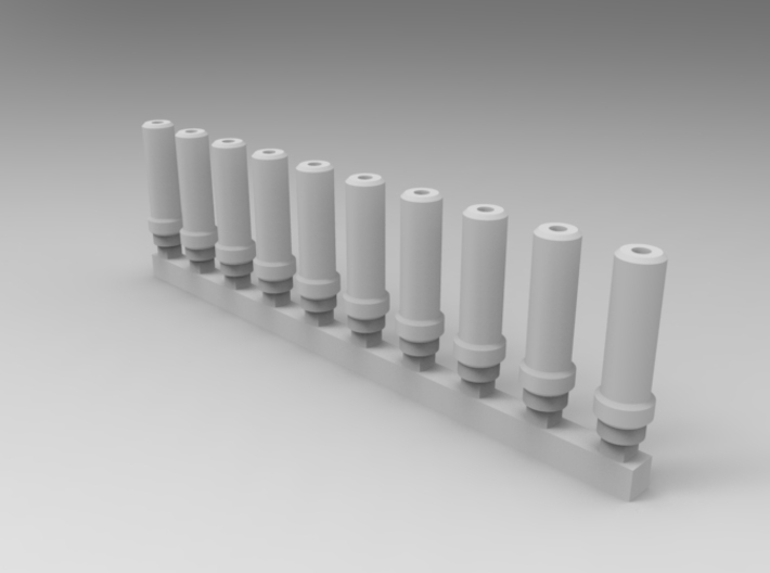 Bolt Rifle Suppressors v1 x10 3d printed