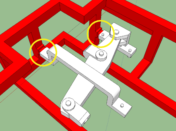 """HO AB Brake System Kit 3d printed Note the thin sprue """"gates"""" that aid in freeing the brake levers-- these can be used to index a blade."""