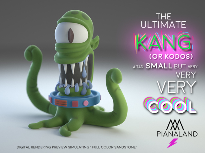 the ultimate KODOS (or KANG)  3d printed Full Color Sand Stone render simulation