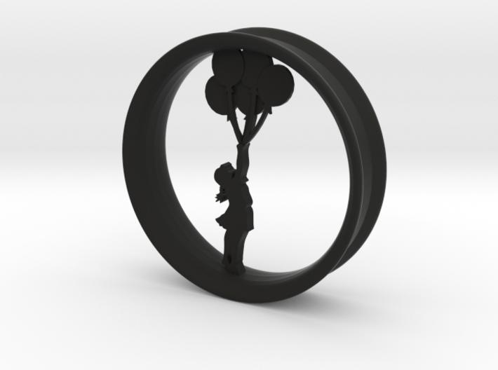 Girl Balloon Rim 3d printed