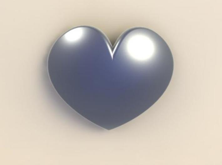 Rounded Heart Pendant 3d printed