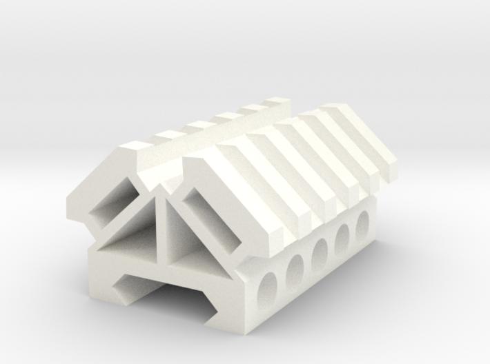 Picatinny rail splitter to 2 - 5 slot triangle 3d printed