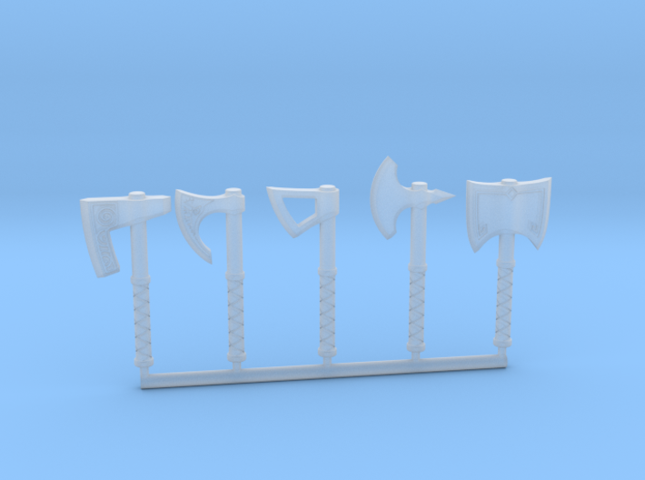 Miniature Axe Collection (without hand) 3d printed